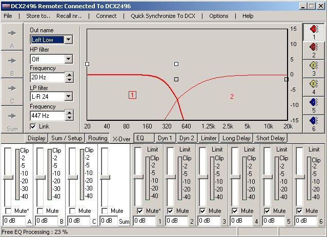 Filtre actif numérique DCX 2496 Xover10