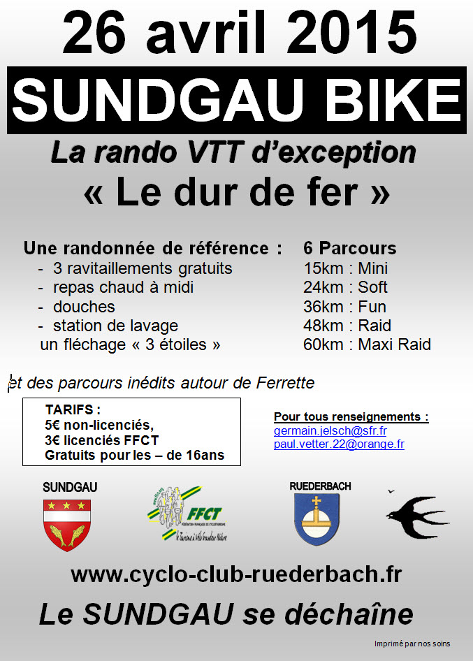 SUNDGAU BIKE Bettendorf Dim 26 avril 15 Sundga10