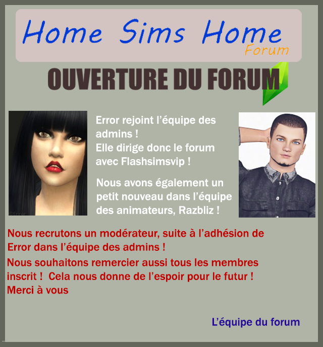 [Forum] Home Sims Home Lettre13