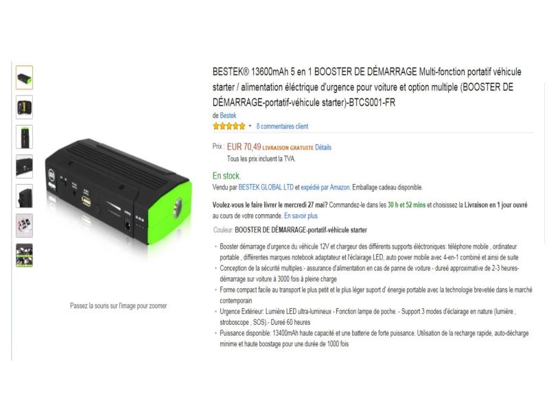 Booster Démarrage Batterie à plat. Booste12