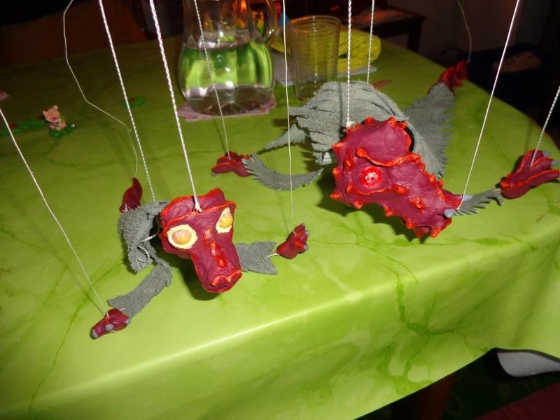 Marionette: Drachen mit Nachwuchs Dsc01915
