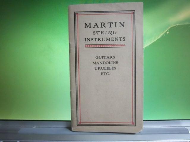 Catalogue des guitares Martin 1929. état neuf. A10