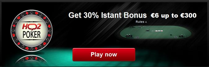 Exclusive get 30% Instant Poker Bonus €6 up to €300 Instan10