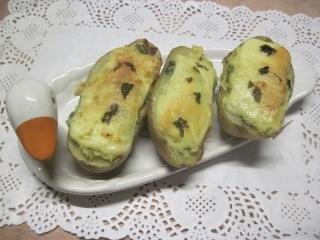 pommes de terre farcies en purée.basilic. photos. Img_6610