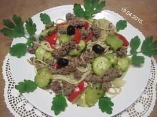 Spaghettis.poivron.courgette. bœuf. photos. Img_6848