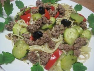 Spaghettis.poivron.courgette. bœuf. photos. Img_6861