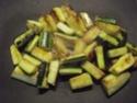 Aiguillettes de poulet aux trois légumes.photos. 11169810