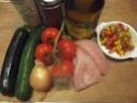Aiguillettes de poulet aux trois légumes.photos. Dscf5324