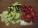 Aiguillettes de poulet aux trois légumes.photos. Dscf5325