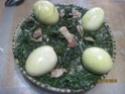 Épinards et châtaignes aux œufs.photos. Epinar26