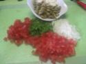 Escalopes de poulet garnies de légumes. photos. Escalo47