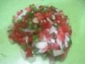 Escalopes de poulet garnies de légumes. photos. Escalo48