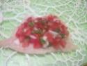 Escalopes de poulet garnies de légumes. photos. Escalo50