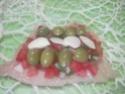 Escalopes de poulet garnies de légumes. photos. Escalo51