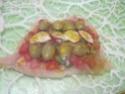 Escalopes de poulet garnies de légumes. photos. Escalo52