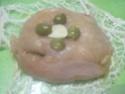 Escalopes de poulet garnies de légumes. photos. Escalo54