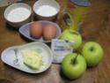 Flan au lait de coco aux pommes.photos. Flan_d11