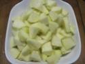 Flan au lait de coco aux pommes.photos. Flan_d12