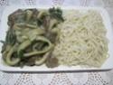 Anneaux de calamar aux champignons pleurote.basilic. photos. Img_6567