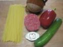 Spaghettis.poivron.courgette. bœuf. photos. Img_6849
