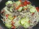 Spaghettis.poivron.courgette. bœuf. photos. Img_6859