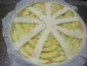 tarte aux pommes sur une crème d'amande.photos. Tarte_25