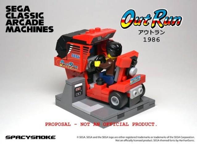 Bornes d'arcade Sega by Lego  Outrun10