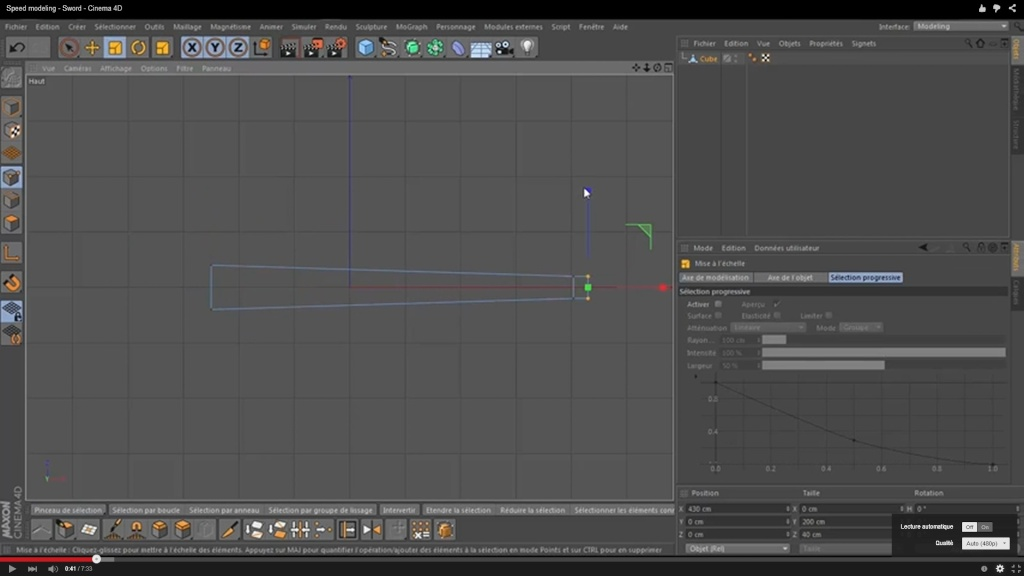 speed modeling épée (improvisation) Parame10