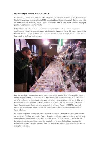 Crònica de la XI MineralExpo Barcelona-Sants 2015 Fira_b10