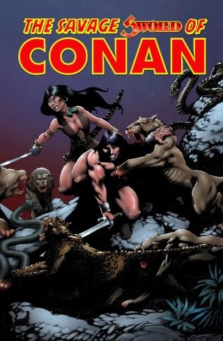 Portadas de las colecciones diversas de Conan Sword_27