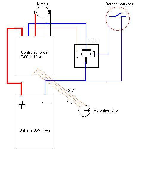 trottinette plomb brush 24V --> 36 V lithium Diagt310