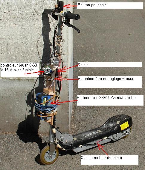trottinette plomb brush 24V --> 36 V lithium T36t10