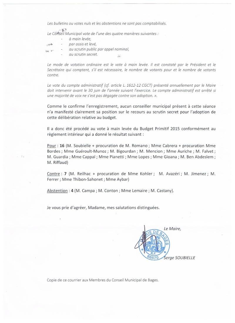 A PROPOS DU VOTE DU BUDGET PRIMITIF Repons15