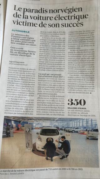 """Presse : """"le paradis norvégien de la voiture électrique victime de son succès"""" Fullsi10"""