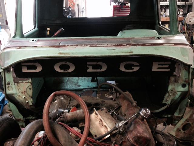 60 Dodge pickup Build Firewa12