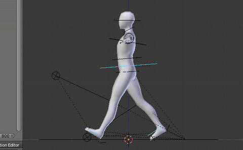 在Blender使用Rigify创建循环步行动画Create an Animation Walk
