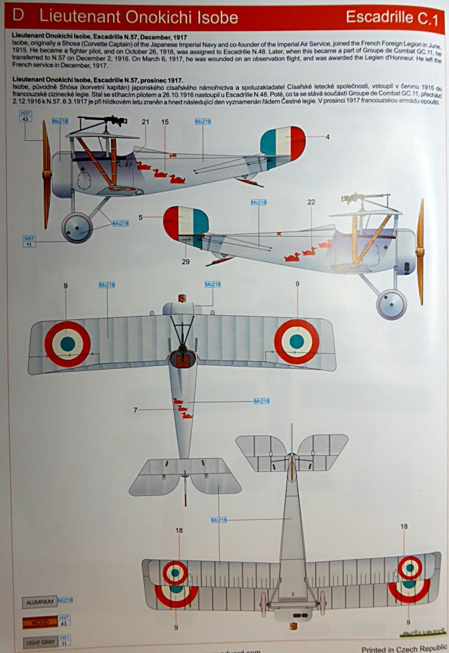 Concours 1ere Guerre Mondiale: [Eduard] Nieuport Ni-17 Sgt Boyau Ni-17_17