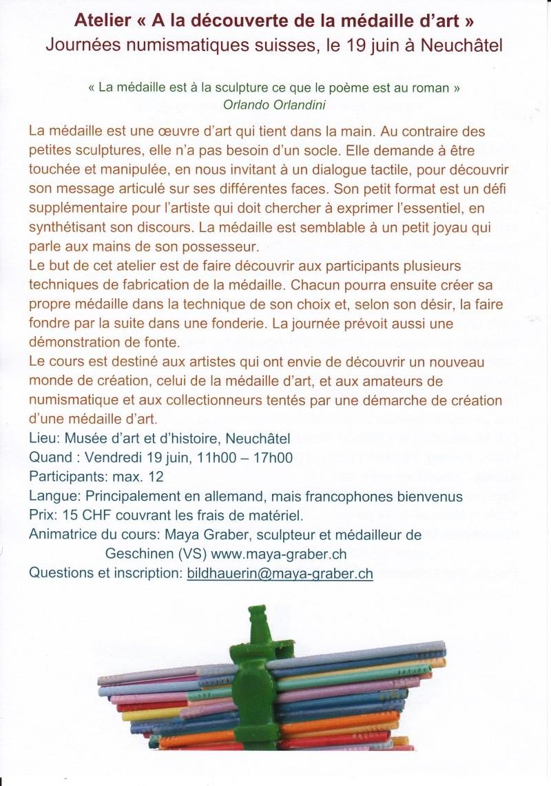 Bourse de Neuchâtel et journées numismatiques suisses 2015 Atelie10