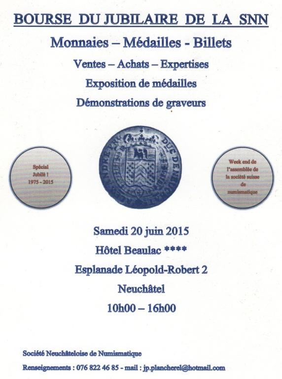 Bourse de Neuchâtel et journées numismatiques suisses 2015 Bourse10
