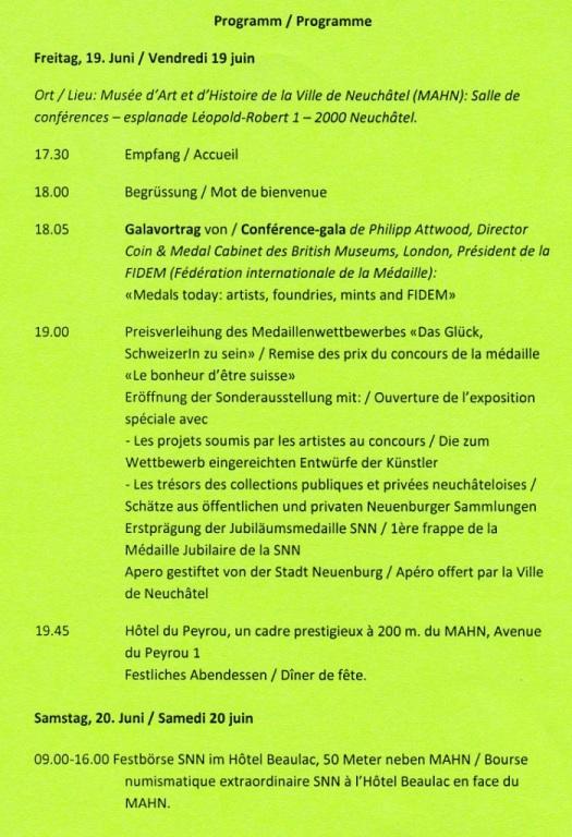Bourse de Neuchâtel et journées numismatiques suisses 2015 P110