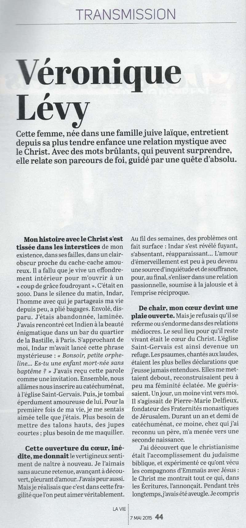 La très touchante conversion de Véronique Lévy au Catholicisme - Page 2 Lavie210