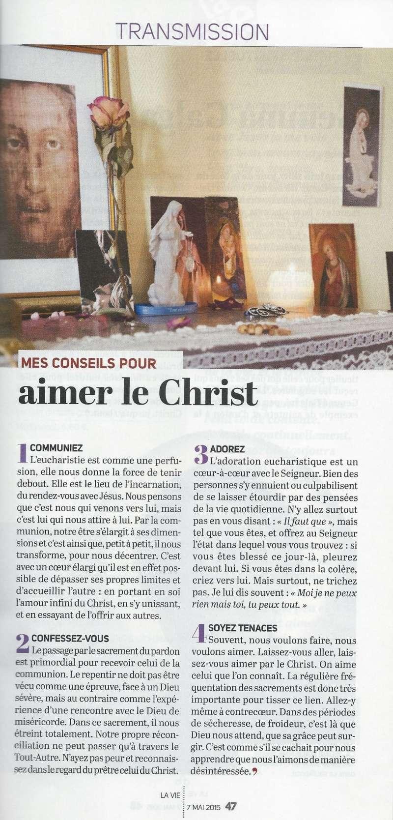 La très touchante conversion de Véronique Lévy au Catholicisme - Page 2 Lavie510