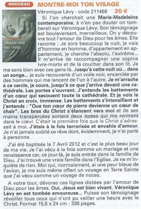 La très touchante conversion de Véronique Lévy au Catholicisme - Page 2 Resiac10