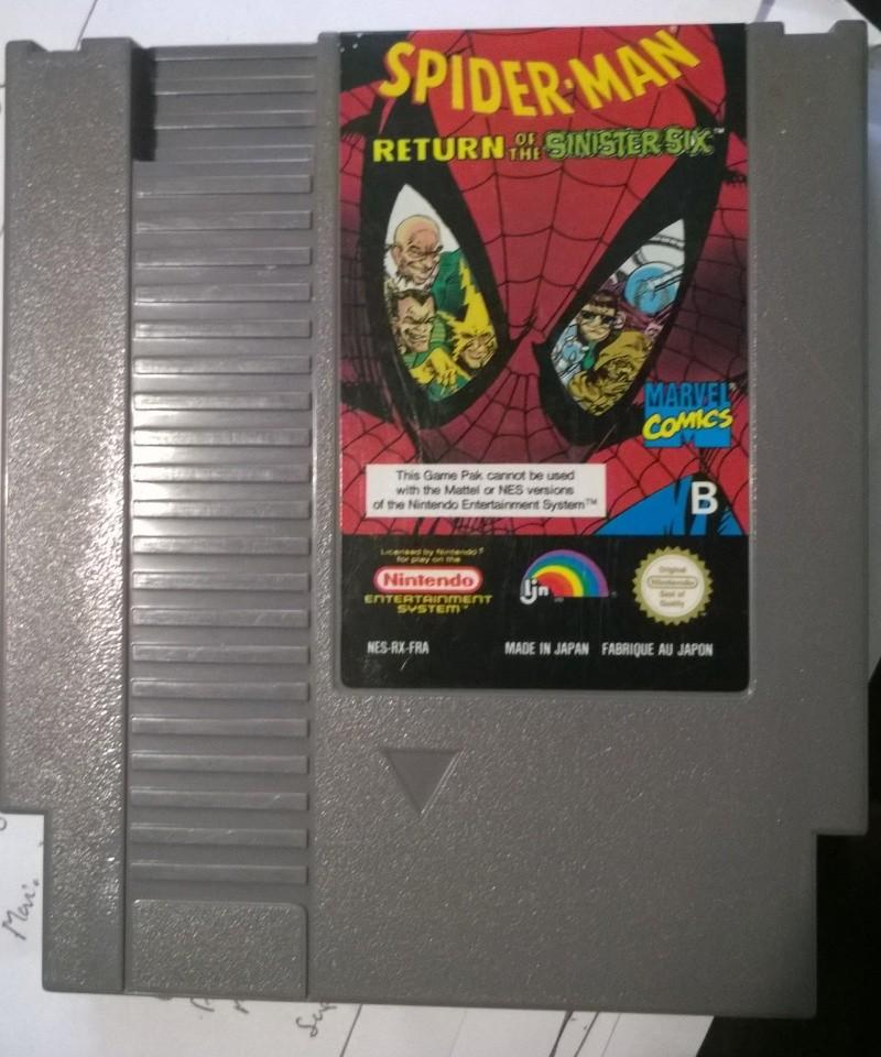 [Rech] Jeux NES loose ! Full-set NES PAL-B ! Spider10