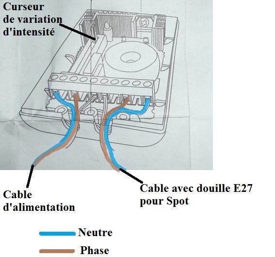 Fabrication d'un variateur d'intensité pour spot halogène/ à incandescence  Schyma10
