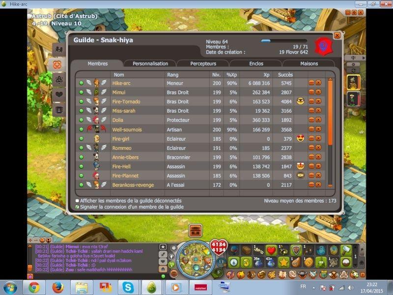 Candidature [Snak-hiya] niveau 64 Guild11