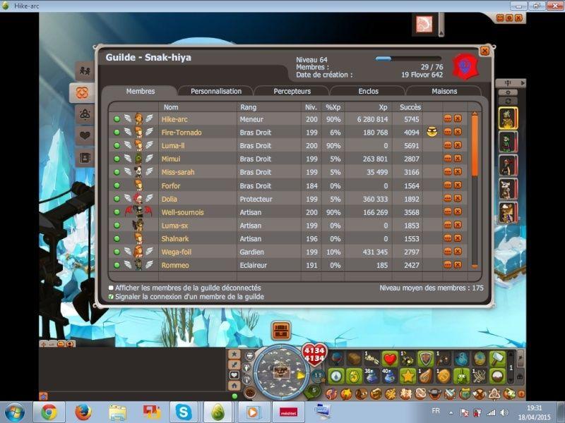 Candidature [Snak-hiya] niveau 64 Guildd11