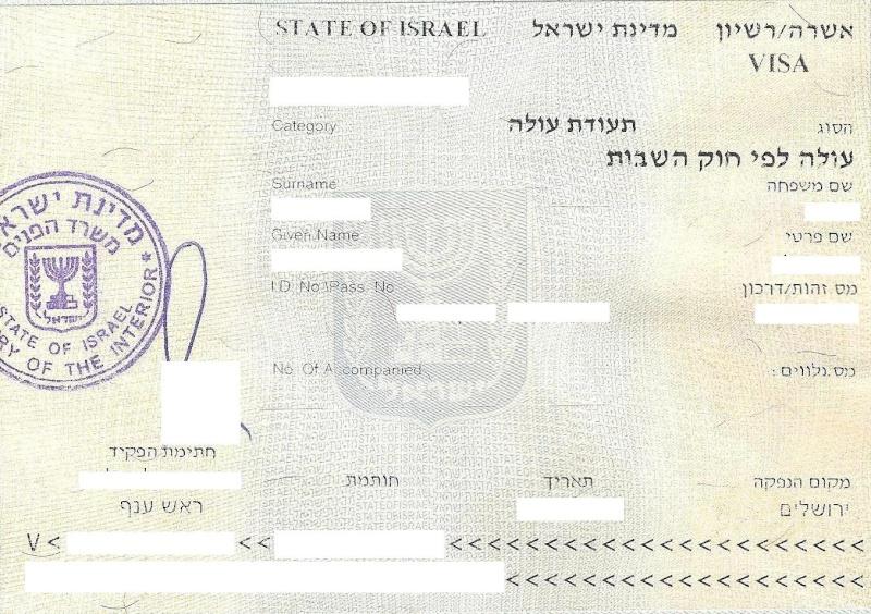 Документы выданные в Израиле 10