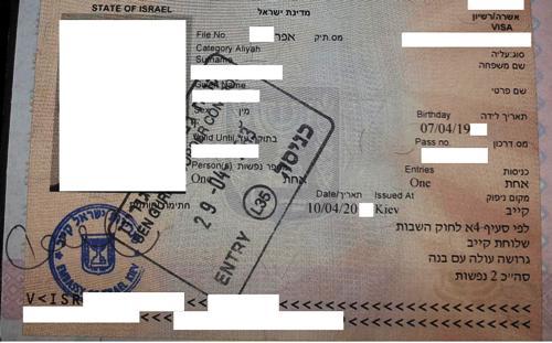 Документы выданные в Израиле 111