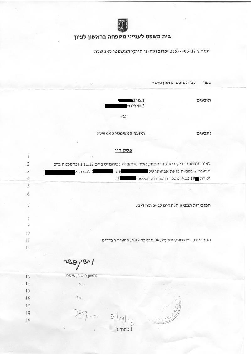 Документы выданные в Израиле Oeueza10